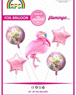 KBK Market 5li Flamingo Set Balon- Flamingo Balon